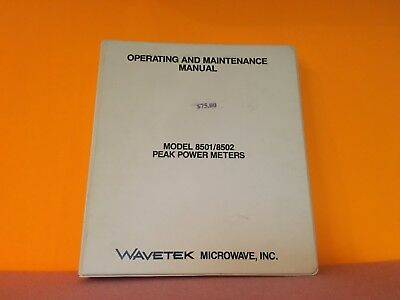 Wavetek Model 85018502 Peak Power Meters Operation Maintenance Manual
