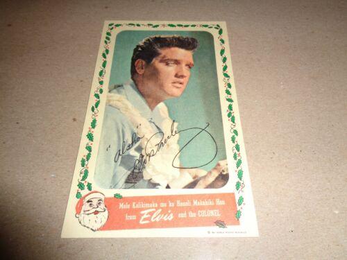 Elvis Original Rare 1961 Blue Hawaii Postcard w/Postage Stamp