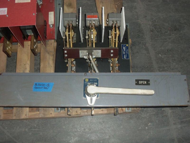 Square D Bolt Loc Bl Bl36120-q 1200 Amp 600v Pressure Contact Load Break Switch