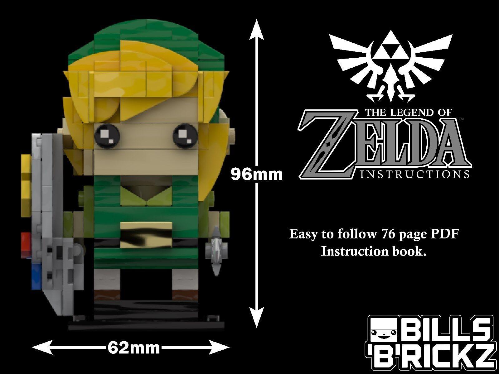 SALE** Lego MOC Brickheadz - Legend of Zelda -Link-Custom PDF