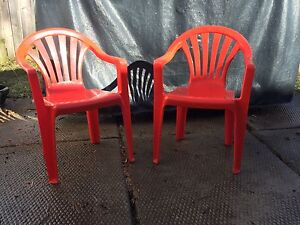 Red plastic chaire