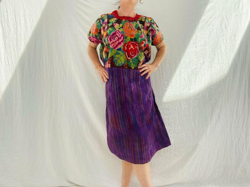 Vintage Guatemala Huipil Dress. Chichicastenango.