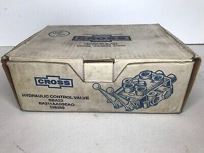 Cross Sba22 3 Position 4-way Hydraulic Control Valve New