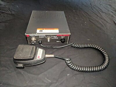 Federal Signal Pa300 Series Electronic Siren Control Unit Radio Used