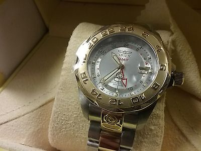 NEW Invicta GMT # 5127 st steel 2 tone gold/silver swiss grand diver box/papers