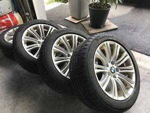 4 Pneus d'hiver avec Jantes BMW Série 3