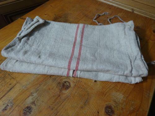 Antique European Feed Sack GRAIN SACK Red Stripe  # 9984