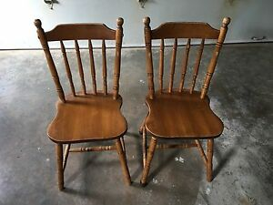 2 hardwood Chairs for sale