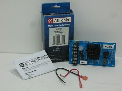Altronix PM212 Linear Power Supply/Charger,Single Output, 12VDC @1A, 16VAC,Board Altronix Linear Power Supply