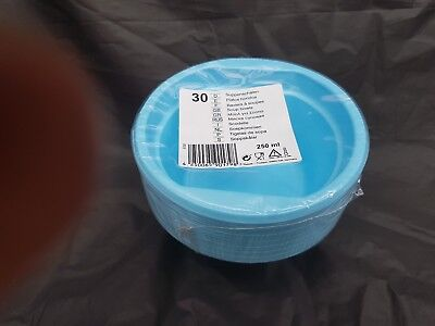 Light Blue Plastic Bowls (30 x  plastic disposible light blue  bowl 12cm  for all occasions)