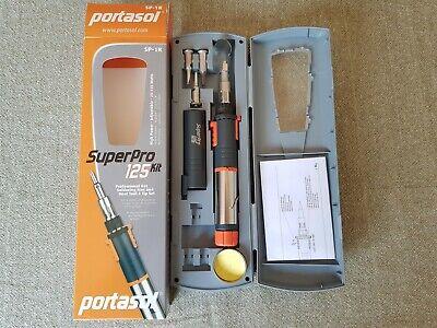 Portasol Super Pro 125 Gas Soldering Kit Sp-1k High Power Adjustable 25-130 Watt
