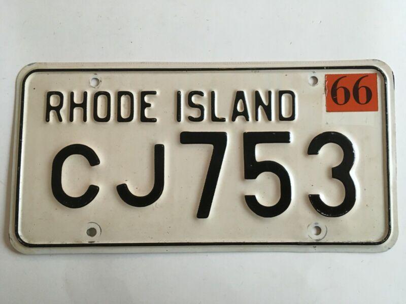 1966 Rhode Island License Plate All Original