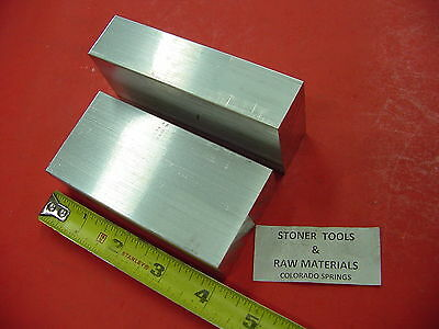 2 Pieces 1 X 2 Aluminum 6061 Flat Bar 4 Long Solid Plate Mill Stock 1.00x 2