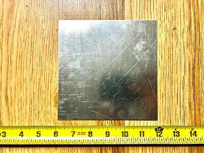 18 Gauge Galvanized Steel Sheet Metal Scrap 6 Pieces 6 X 6