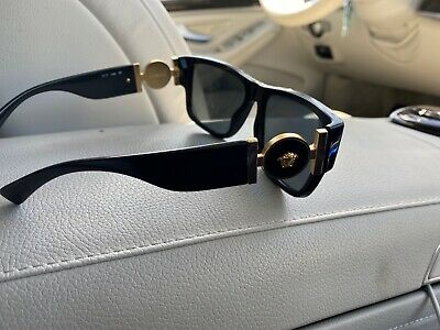 VERSACE VE4296 Gb1/87 59mm Grey UV Lens Black Frame Men's Sunglasses
