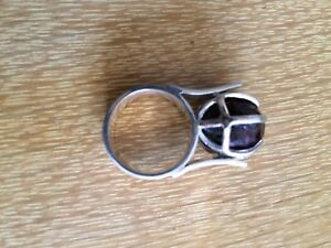 Ring Authentic Garnet & 100 %Silver Paid $250