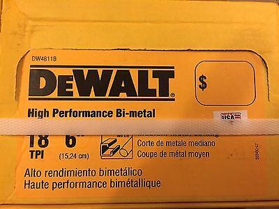 DeWalt- 6 inch 18 TPI BI-Metal Sawzall Blades Saw Blade ~ 100 Pack ~ ()