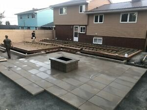 Landscaping projects, excavation, retaining walls, carpentry