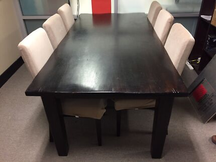 Solid Teak Dining Table And Chairs