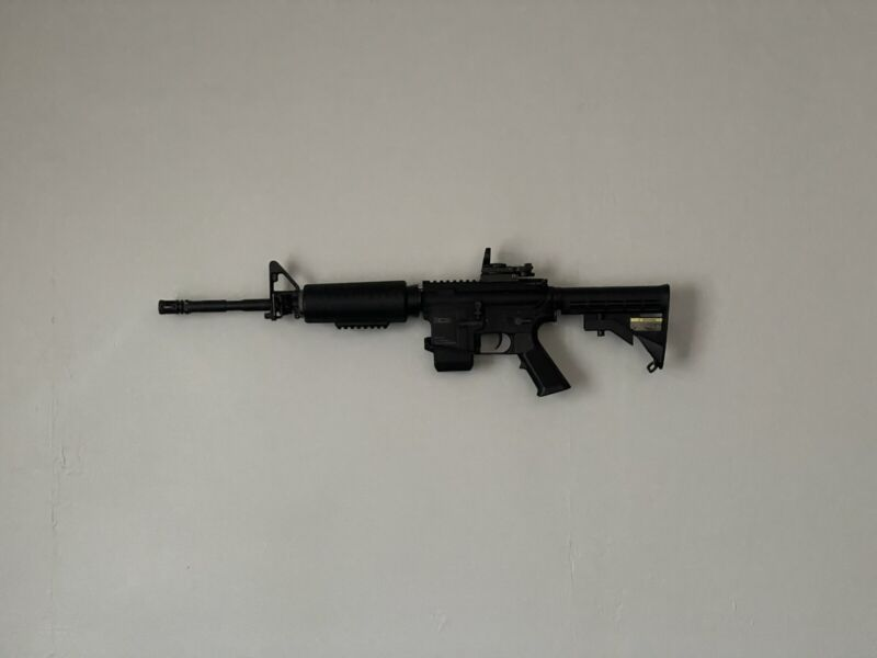 KWA Full Metal KM4A1 Carbine AEG Airsoft Rifle, Battery And Mag