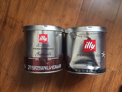 Illy Iperespresso 21 pods Coffee Capsules 1 Guatemala 1 out of date Espresso