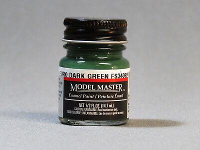 TESTORS PAINT MODEL MASTER FLAT EURO DARK GREEN ENAMEL 1/2oz 14.7ml TES1764 NEW