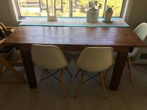 Beautiful large wooden dining table, great condition