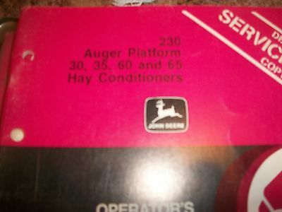 John Deere Operators Manual 230 Auger Platform 303560 65 Hay Conditioners