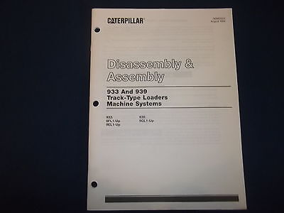 Cat Caterpillar 933 939 Track Loader Machine System Disassembly Manual Senr5355