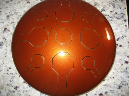 STAINLESS Steel Tongue Drum - Handpan - VibeDrum - Earth - 2 sides / 2 Scales