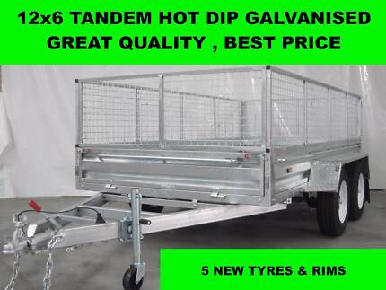12x6 Hot Dip Galvanised Trailers,with 5 Brand New Tyres