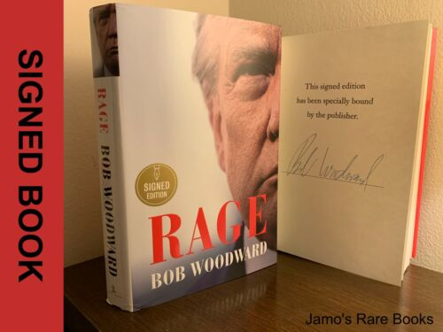 Bob Woodward SIGNED BOOK Rage 1ST PRINTING Hardcover ~ LAST ONE