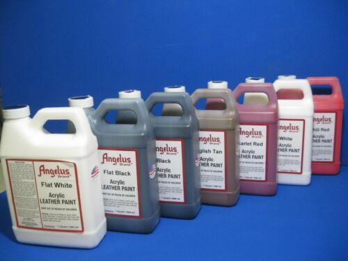 Angelus Acrylic Leather Paint /Dye - Leather & Vinyl  Sneaker Paint -Quart 32 oz
