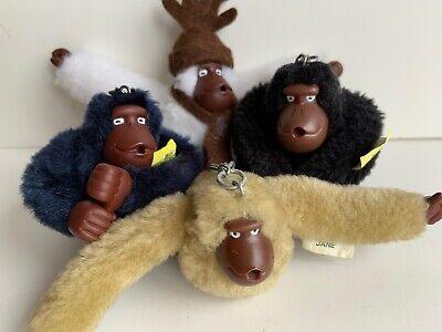 Kipling Monkey Keychain Lot 4 Monkeys Emily, Sven, Jane & Kim Kipling Bag Monkey