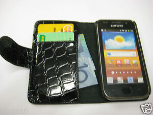 Samsung-Galaxy-S-i9000-Croco-Wallet-Credit-Card-Leather-Pouch-Case-Cover