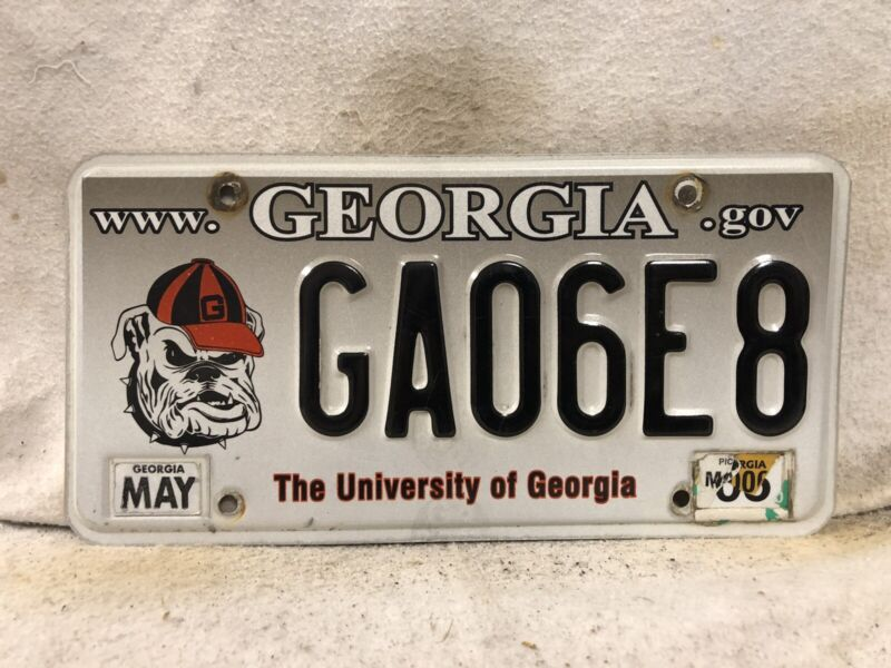 2005 Georgia Bulldogs License Plate