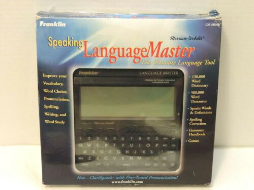 Franklin LM-6000B Language Master Speaking Dictionary Thesaurus & Grammar Guide