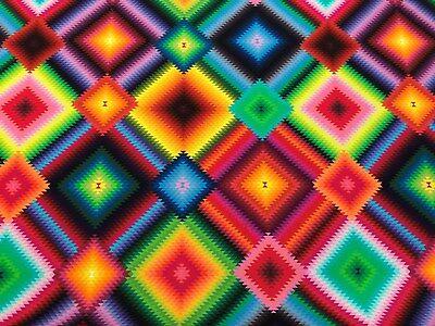 Dekostoff - Neon - Quadrate - bunt