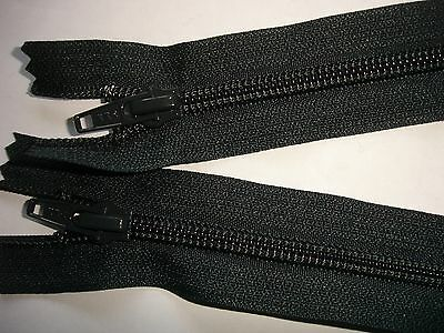 RV 372 Reißverschluß ykk dunkelgrau 60cm, teilbar als 2-Wege-RV 1 Stück