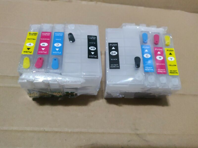 Empty Refill Ink Cartridges For Epson 252XL WF-7210 WF-7710 WF-7720  (Lot of 2)