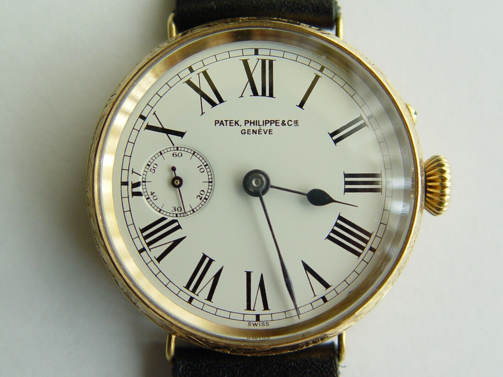 Antique 18k solid gold men's Patek Philippe watch 15 jewel movement - watch picture 1
