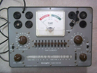 Knight 600 Series Tube Tester In Good Working Condition With Instructions...