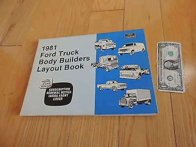 FORD TRUCK BODY BUILDERS LAYOUT BOOK SERVICE MANUAL