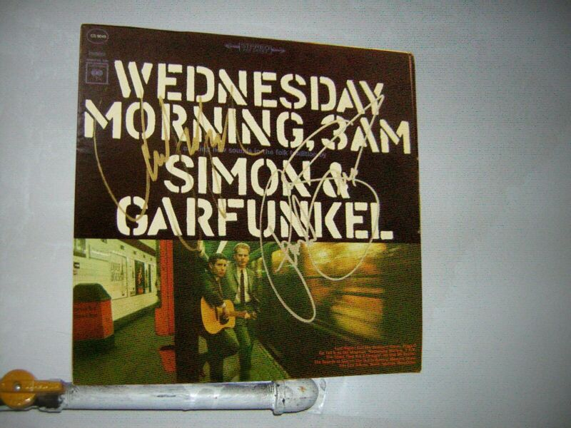 Simon & Garfunkel Signed LP Wednesday Morning 3 Am Paul Simon