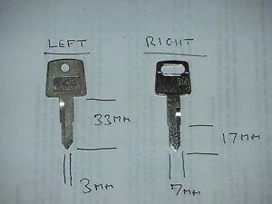Classic Honda motorcycle keys cut to code, free UK post.