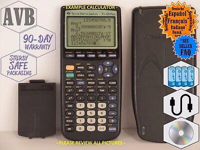 Texas Instruments Black TI-83 PLUS - Popular School College Graphing Calculator!
