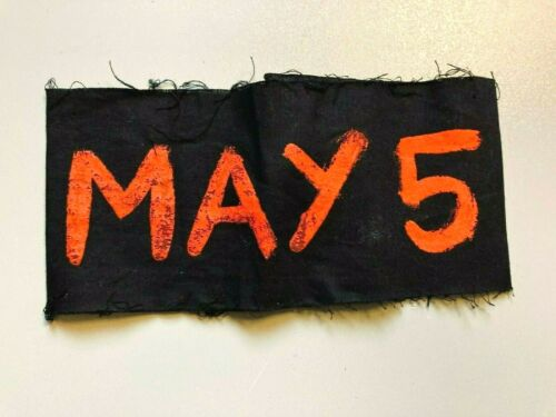 MAY 5, 1970 KENT STATE PROTEST MARCH FOR 4 KILLED ORIGINAL ARM BAND