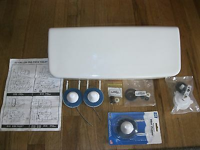 VINTAGE ELJER PATRICIAN WHITE TOILET TANK LID AND TANK PARTS