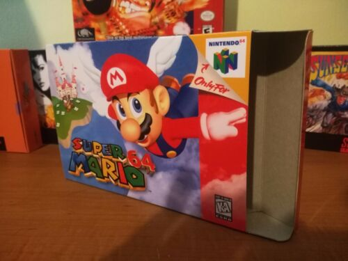 Super Mario 64 N64 Art Case/Replacement Box Only! Nintendo 64!