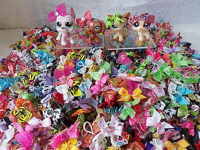 Littlest Pet Shop RANDOM   Lot of 15  Custom Hair Bow Accessories